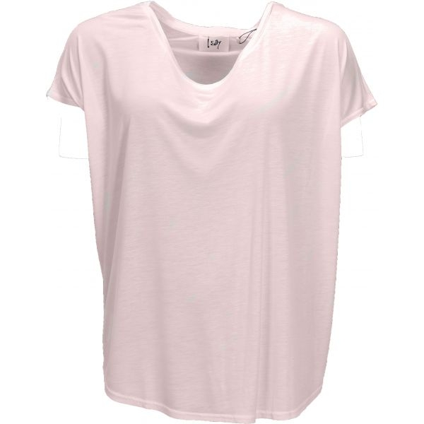 Nugga viscose t-shirt licht rose